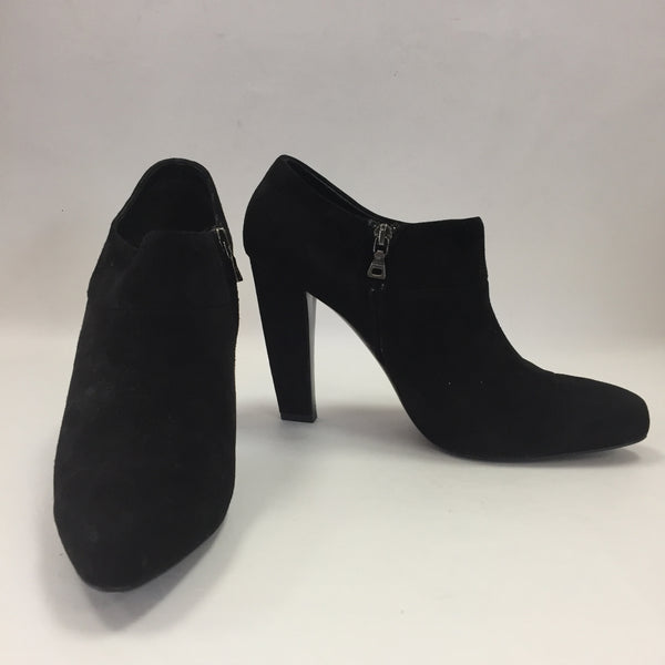 Authentic Prada Black Suede Booties Women's Size 41