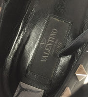 Authentic Valentino Black Caged Rock Stud Flats Women's Size 38.5