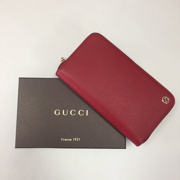 Gucci Red Soho Zip Wallet