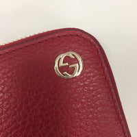 Authentic Gucci Red Soho Zip Wallet