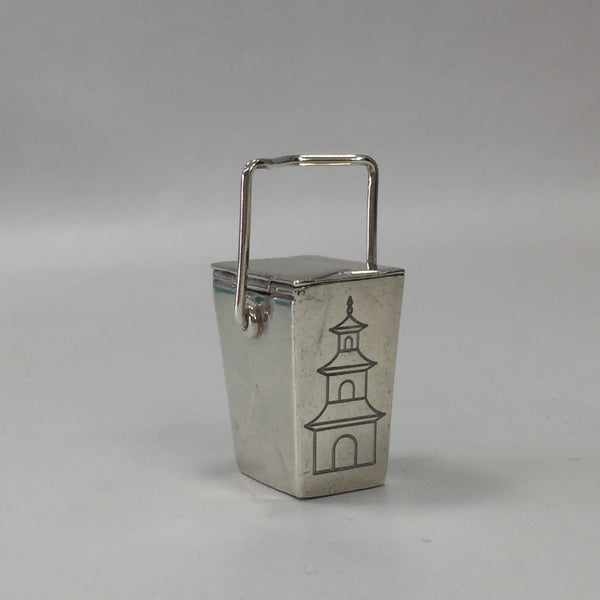 Authentic Tiffany Rare Silver Chinese Takeout Box (Pillbox)