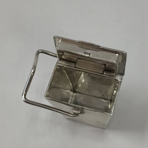 Tiffany Rare Silver Chinese Takeout Box (Pillbox)