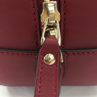 Gucci Red Guccissima Mini Boston Bag With Strap