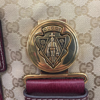 Authentic Gucci Maroon Aviatrix Boston Bag