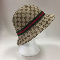 Authentic Gucci Supreme Canvas And Web Bucket Hat
