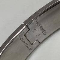 Authentic Hermes Red Clic H Bracelet Palladium Hardware SZ