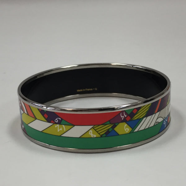 Authentic Hermes Wide Enamel Bracelet sz 65