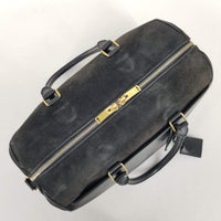 "Authentic Saint Laurent Black Leather And Suede ""Duffle 6"""