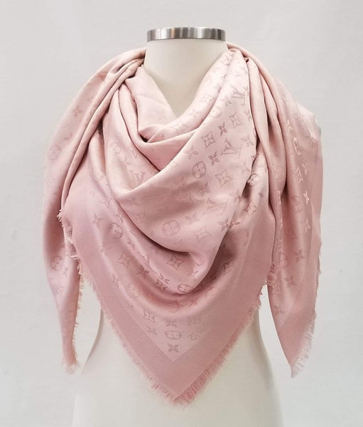 Authentic Louis Vuitton Silk/Wool Shawl Natural