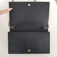 Authentic Gucci Black Leather WOC