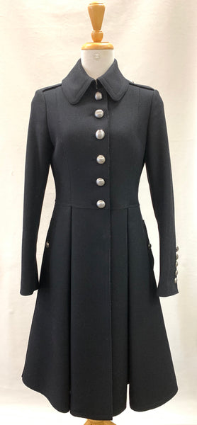 Authentic Burberry Black Wool Coat Sz 6