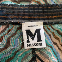 Authentic Missoni Knit Dress Black/Brown/Green Sz XS