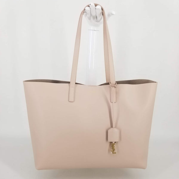 Authentic Saint Laurent Marble Pink Shopper Tote and Pouch