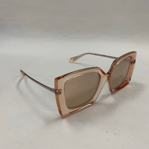 Authentic Chanel Rose Gold Tone Mirror Sunglasses