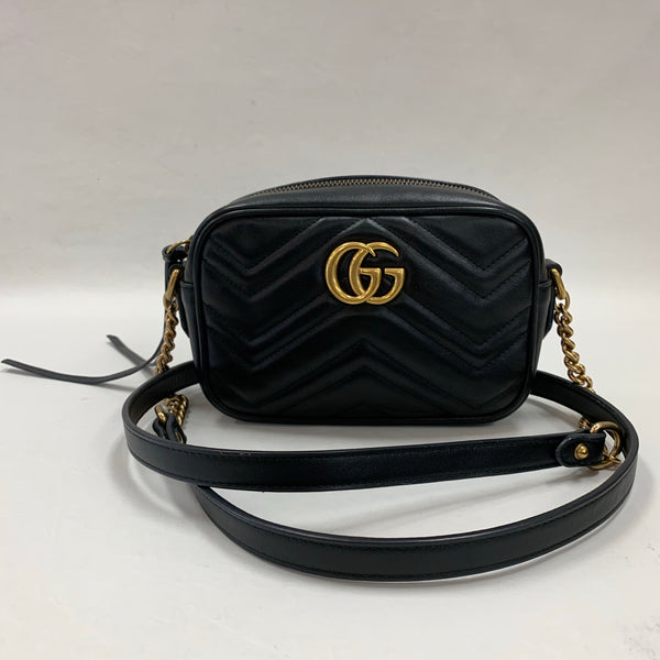 Gucci Black Mini Marmont Camera Bag