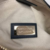 Authentic Gucci Navy Web Bee Supreme Canvas Camera Bag