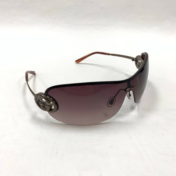 Authentic Gucci Brown Shield Sunglasses