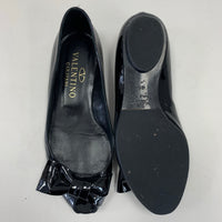 Authentic Valentino Black Patent Bow Flats