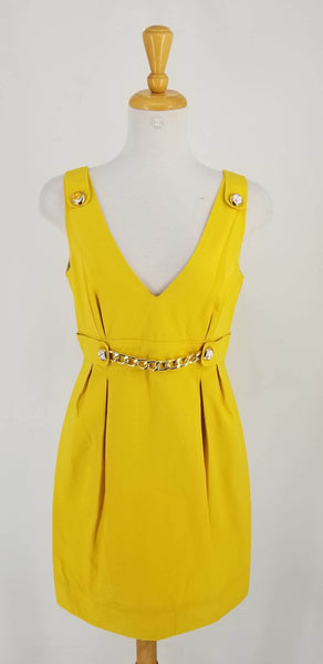 Authentic D & G Yellow Vintage Inspired Dress Sz 44