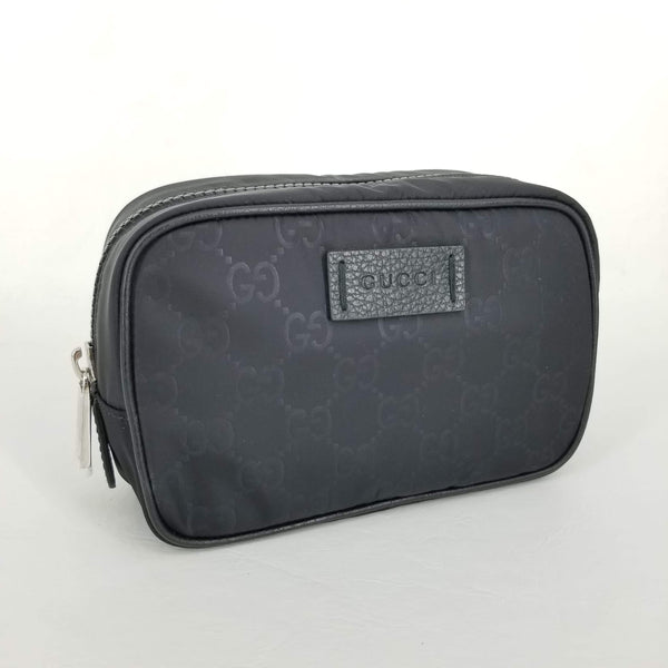Authentic Gucci Black Nylon Cosmetic Case