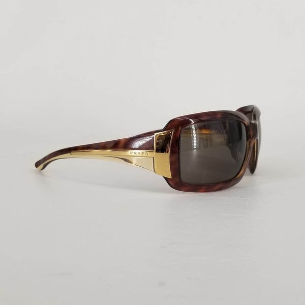 Authentic Prada Tortoise Shell/Gold Sunglasses SPR 01H