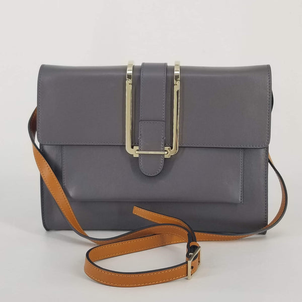 Authentic Chloe Grey Clutch with Strap
