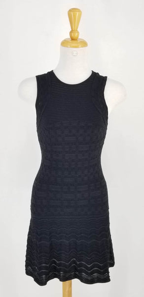 Authentic Missoni Black Knit Sleeveless Dress Sz 38