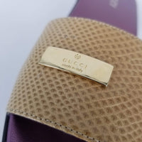 Authentic Gucci Beige New Mirabelle Slides Sz 9