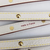 Authentic Louis Vuitton Ivory Sigala Studded Double Tour Belt