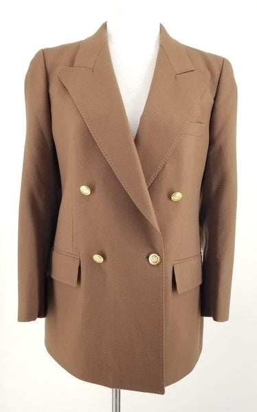 Authentic Aquascutum Brown Cashmere Blazer Sz M