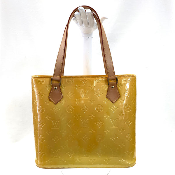 Authentic Louis Vuitton Jaune Passion Vernis Houston Bag