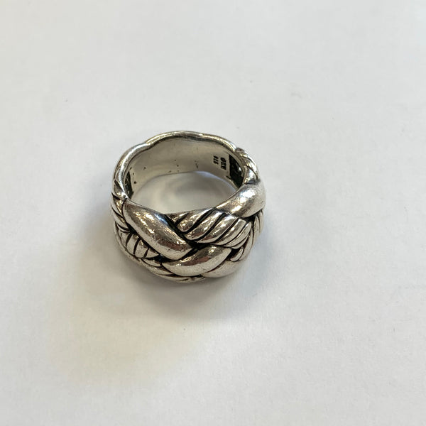 Authentic David Yurman Sterling Silver 925 Cable Woven Ring
