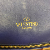 Authentic Valentino Blue Flap Clutch