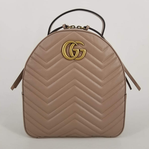 Authentic Gucci Dusty Pink Marmont Backpack