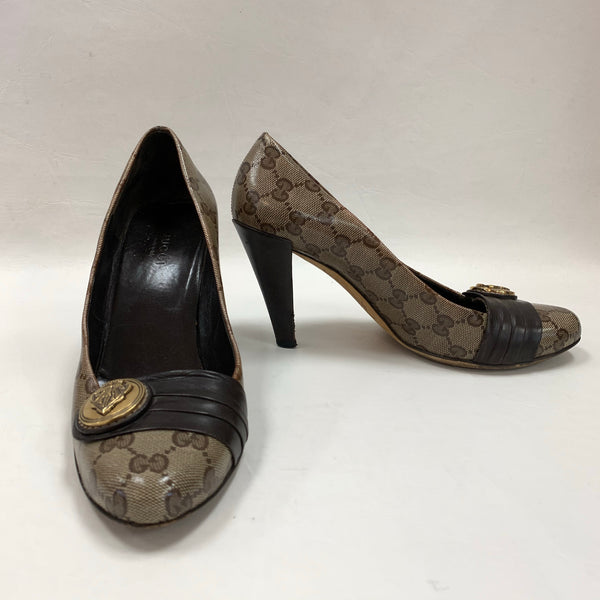 Authentic Gucci Monogram Pumps