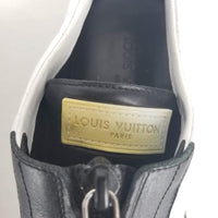 Authentic Louis Vuitton White/Black Zip Slip Ons