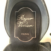 Authentic Roger Vivier Black Satin Bow Pumps