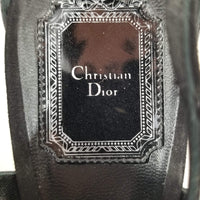 Authentic Dior Black Blue Angel Sandal Sz 40