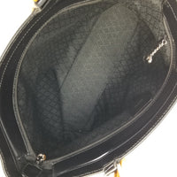 "Authentic Gucci Black Bamboo Nylon ""Italy"" Satchel"