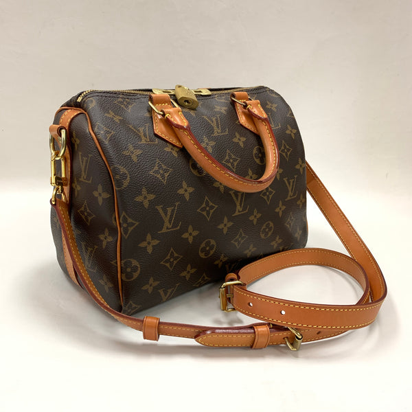 Authentic Louis Vuitton Monogram Speedy 25 Bandouliere