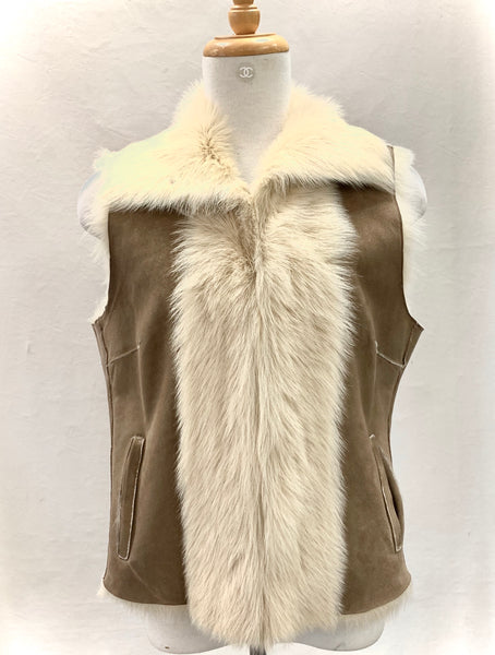 Authentic Burberry Sheepskin Vest Sz M/L