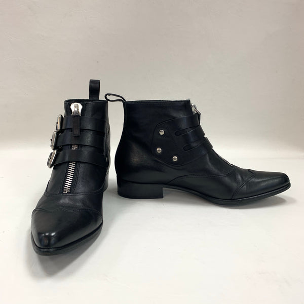 Authentic Tabitha Simmons Black Leather Early Booties