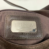 Authentic Furla Brown Suede Shoulder Bag