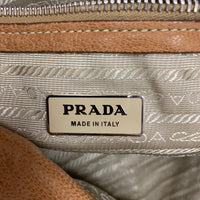 Authentic Prada Antic Easy Cammello Deerskin Foldover