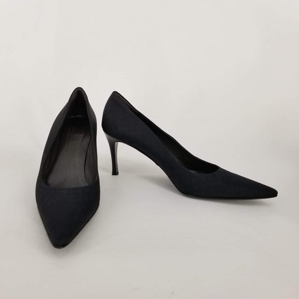 Authentic Gucci Black Guccisima Classic Pumps Sz 10