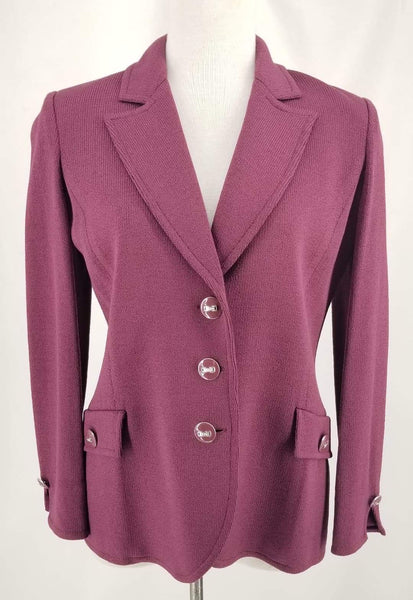 Authentic St John Plum Jacket Sz 2