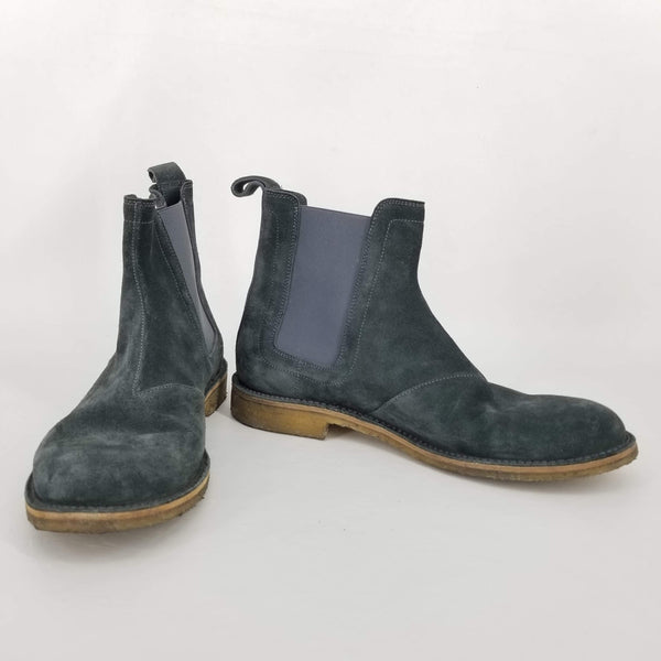 Authentic Bottega Veneta Grey Suede 'Voortrekking' Chelsea Boot