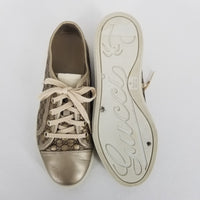 Authentic Gucci Gold Sneakers