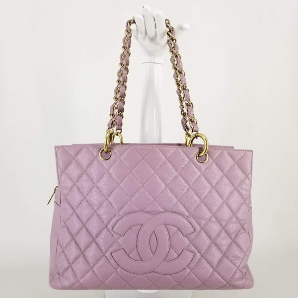 Authentic Chanel Lavendar Grand Timeless Tote
