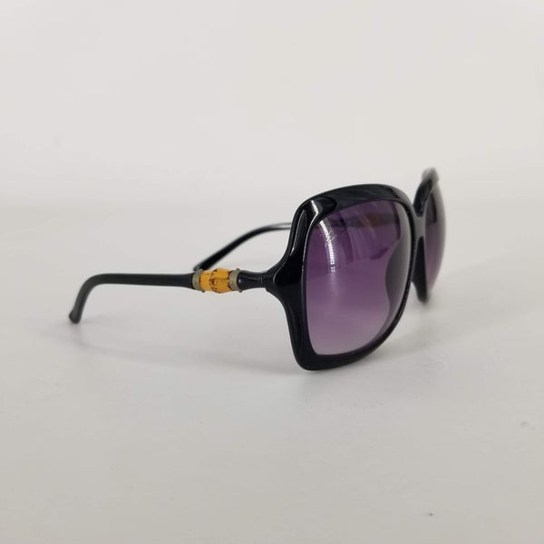 Authentic Gucci Black Bamboo Sunglasses GG3131/S